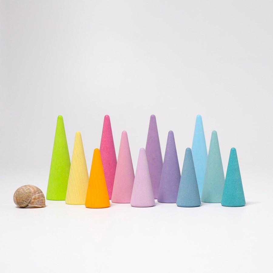 Grimm's Spielzeug - Regenbogenwald Pastell