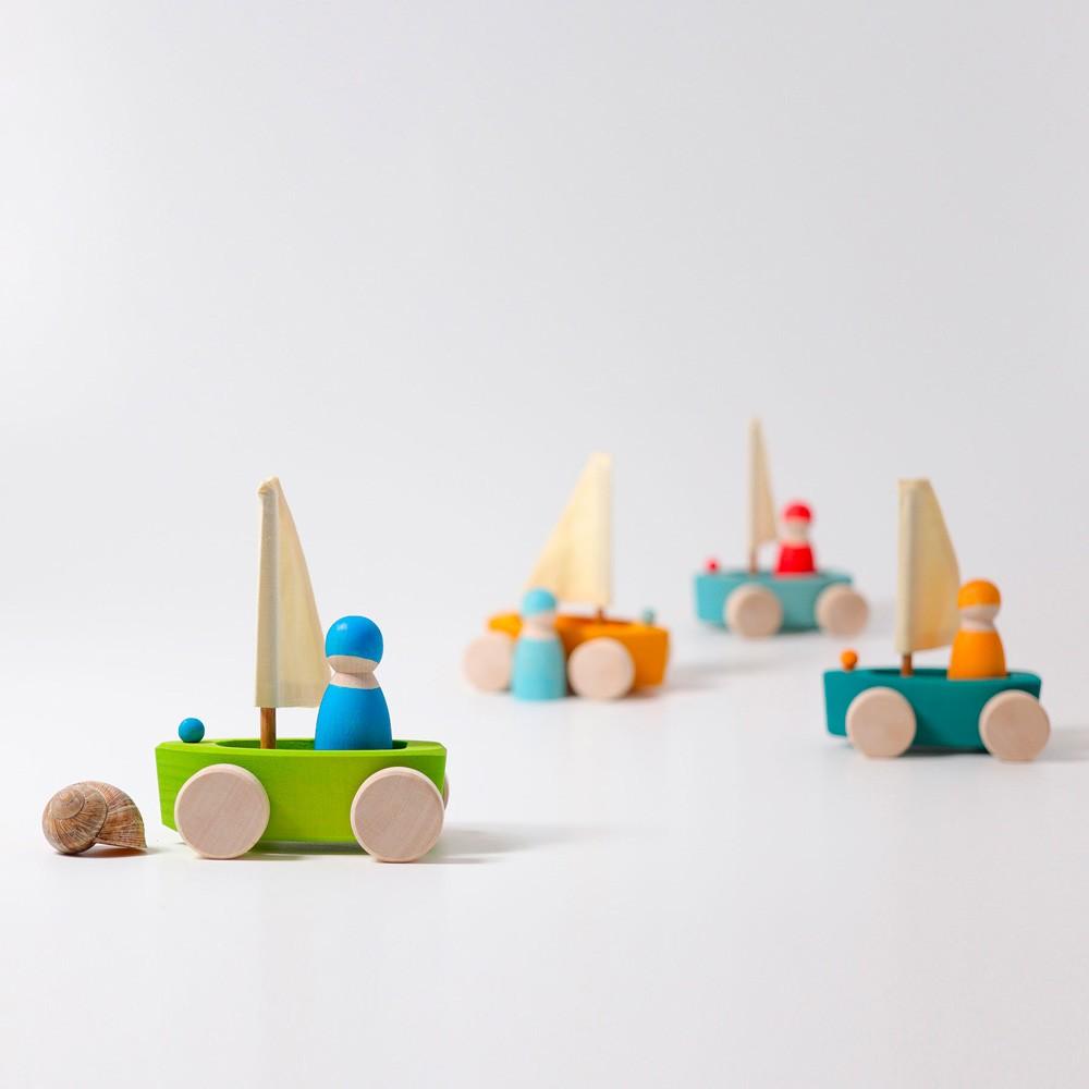 Grimm's Spielzeug - 4 kleine Strandsegler