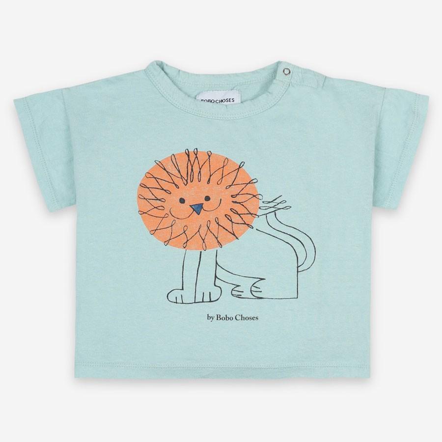 "Bobo Choses - T-Shirt ""Pet a Lion"" Türkis"