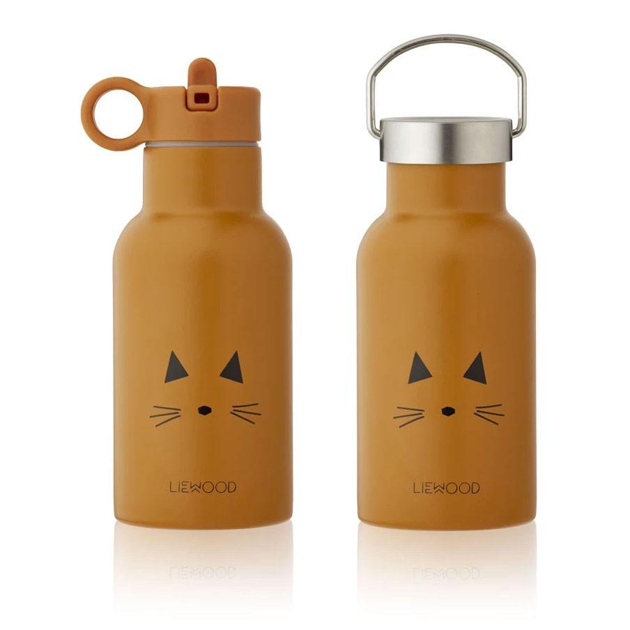 Liewood - Trinkflasche Cat Anker Mustard