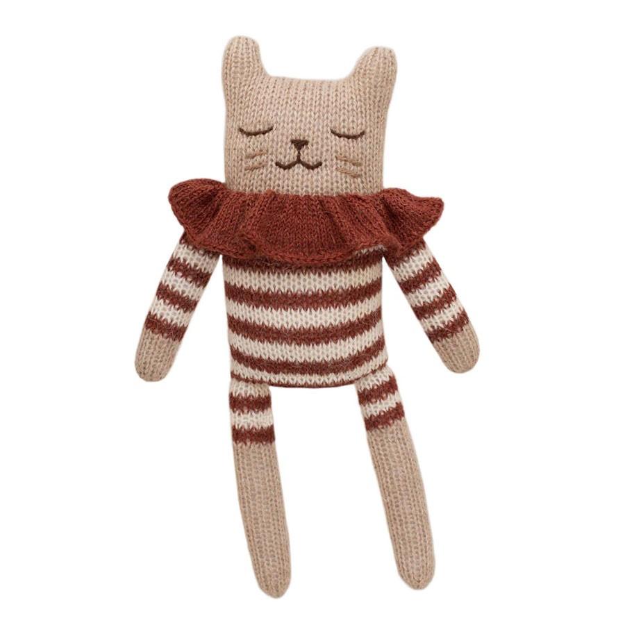 Main Sauvage - Kuscheltier Katze Striped Romper Sienna