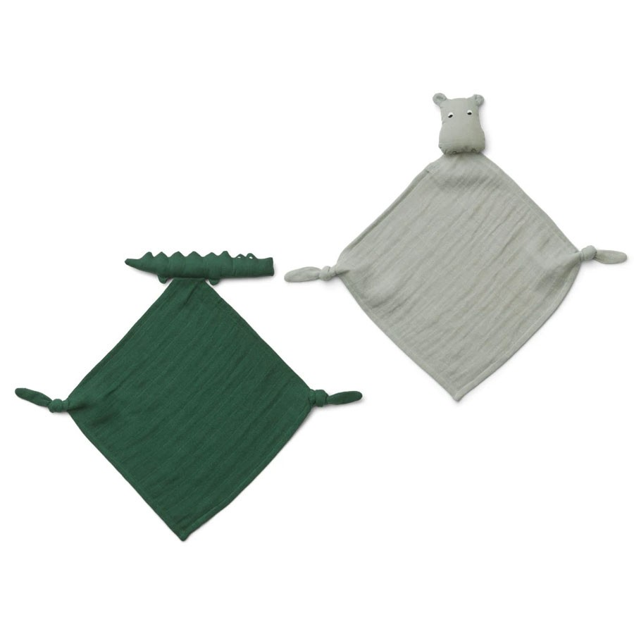 Liewood - 2 kleine Schmusetücher Yoko Safari Green