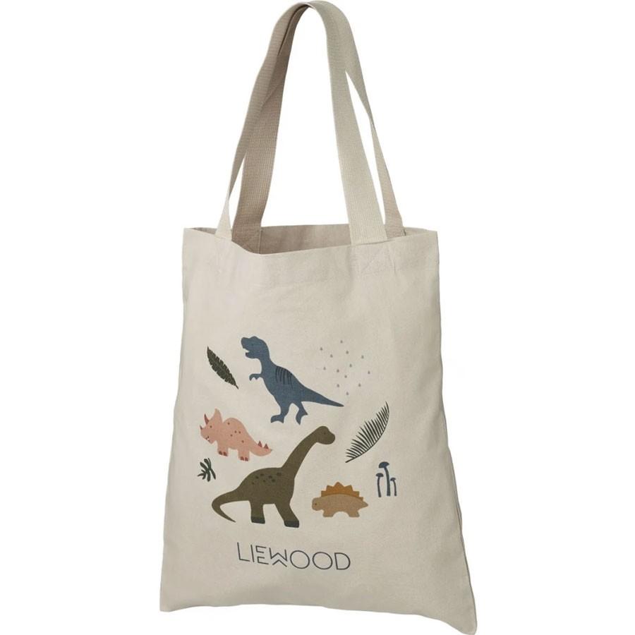 Liewood - Kleine Bio-Tragetasche Dino Dark Sandy