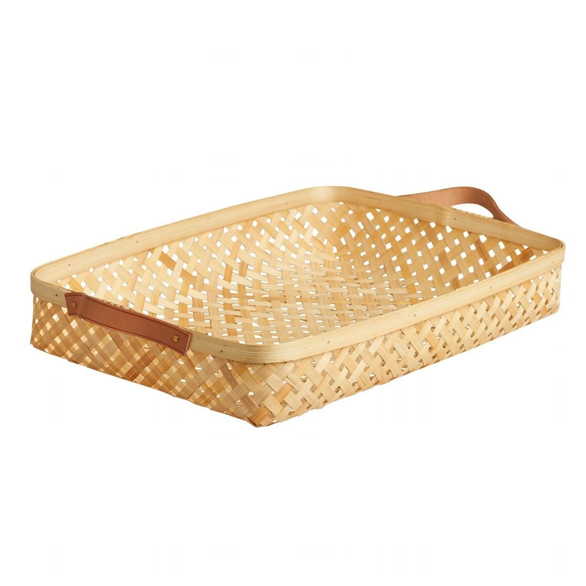 OYOY - Flacher Korb aus Bambus