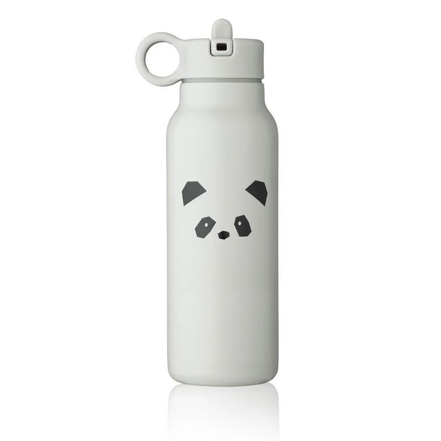 Liewood - Trinkflasche Falk Panda Light Grey 350ml