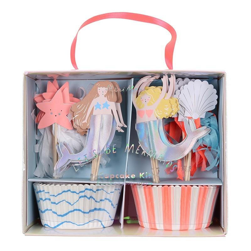 """Meri Meri - Cupcake Set """"Meerjungfrauen"""""""