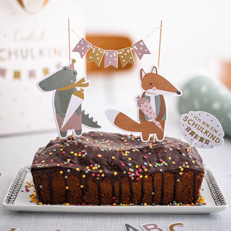 Ava & Yves - Cake Topper Schulkind Pastell