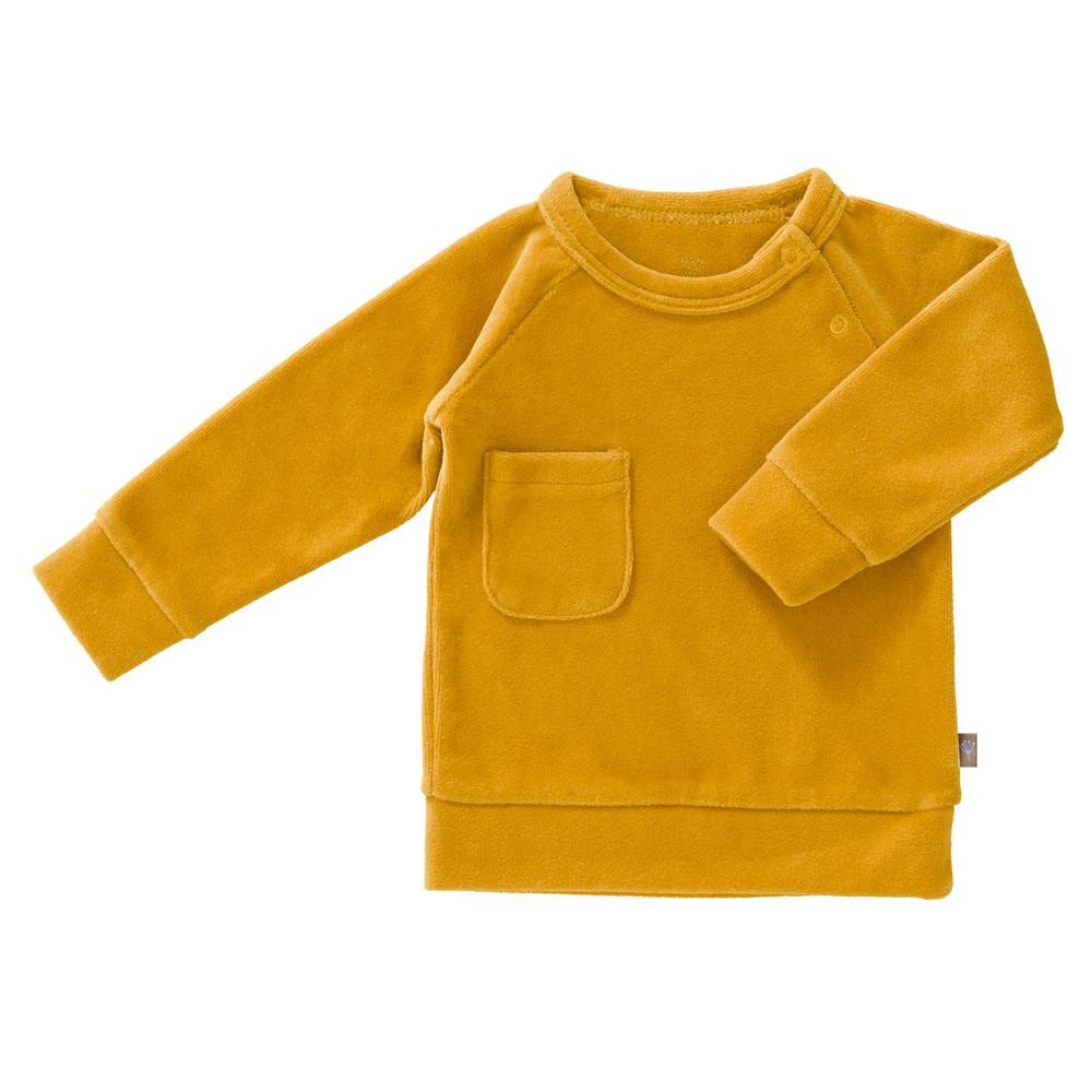 Fresk - Baby Sweater Samt Mimosa Ocker