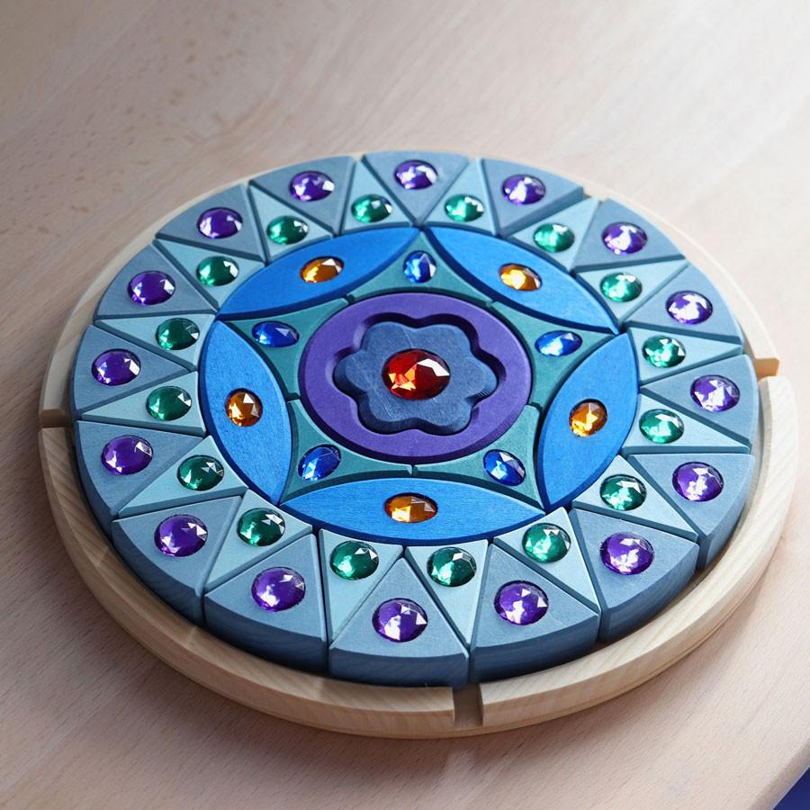 Grimm's Spielzeug - Kleines Mandala mit Glitzer