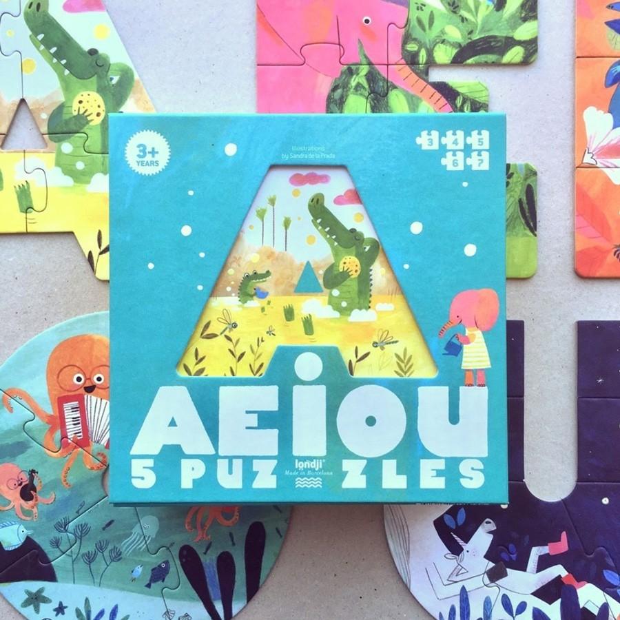 """Londji - Puzzle """"Vokale AEIOU"""""""
