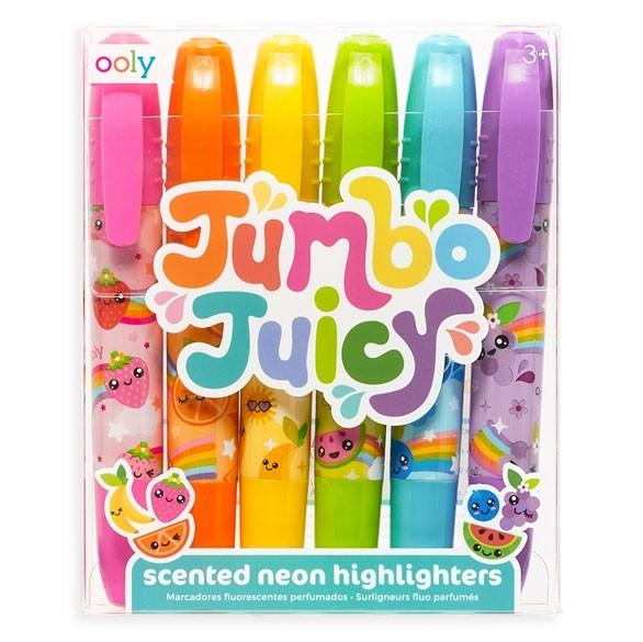 OOLY - 6 Neon Marker mit Duft Jumbo Juicy