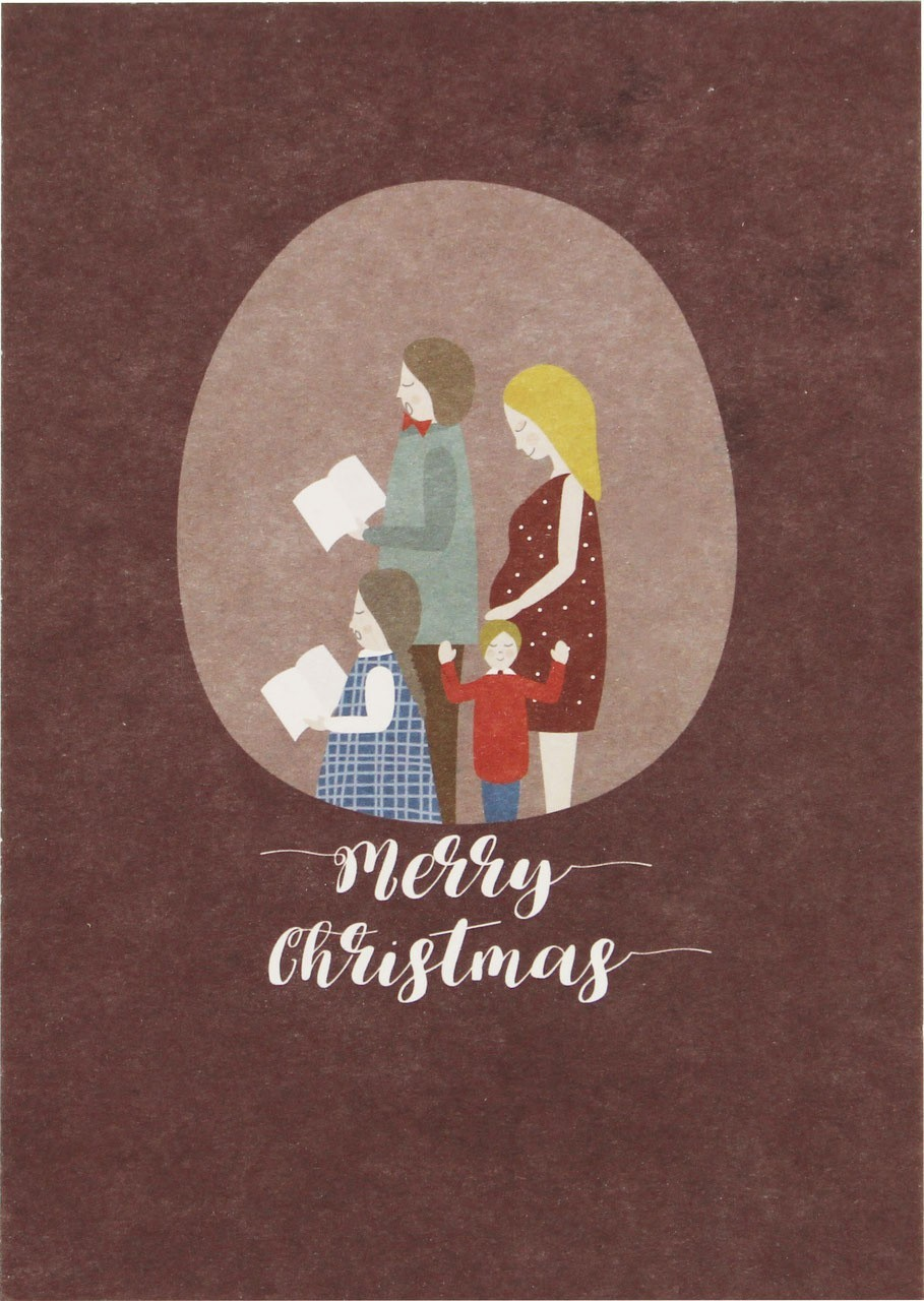 "Ava & Yves - Postkarte ""Weihnachtsfamilie"""