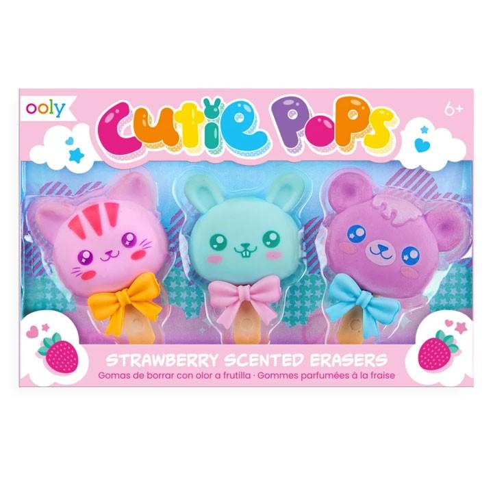 OOLY - 3 Radiergummis Cutie Pops mit Duft