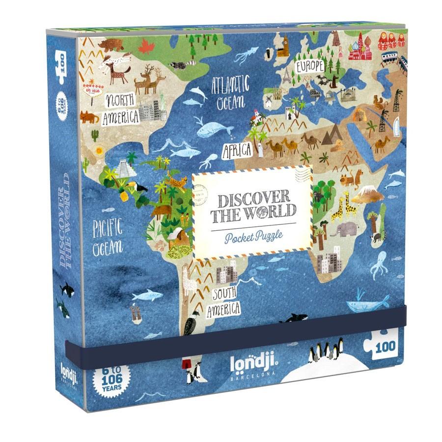 "Londji - Pocket Puzzle ""World"""