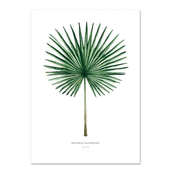 """Leo La Douce - Kunstdruck """"Palm Leaf"""""""