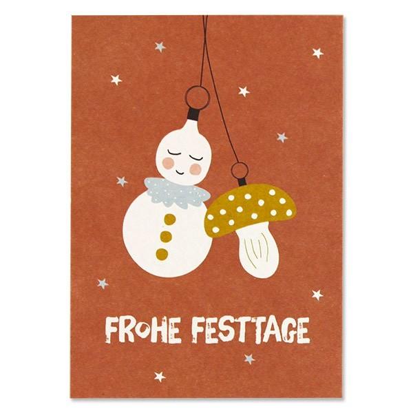 "Ava & Yves - Postkarte ""Frohe Festtage"""