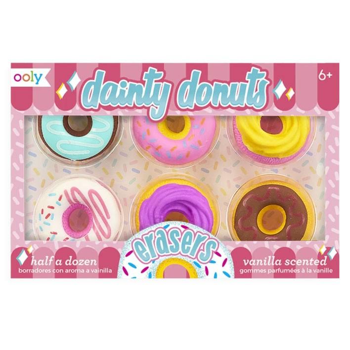 OOLY - 6 Radiergummis Donuts