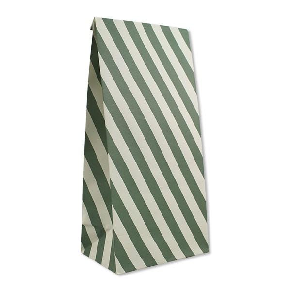 Ava & Yves - 6 Geschenktüten mit Streifen Grün