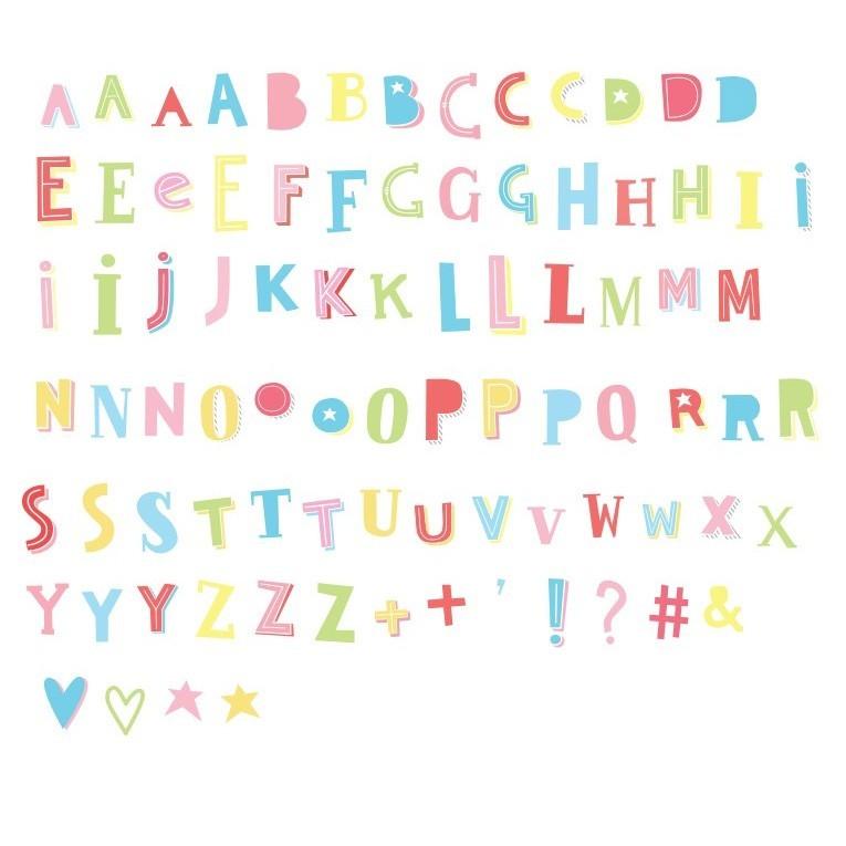"A little lovely Company - Lightbox Buchstabenset ""Funky Colour"""