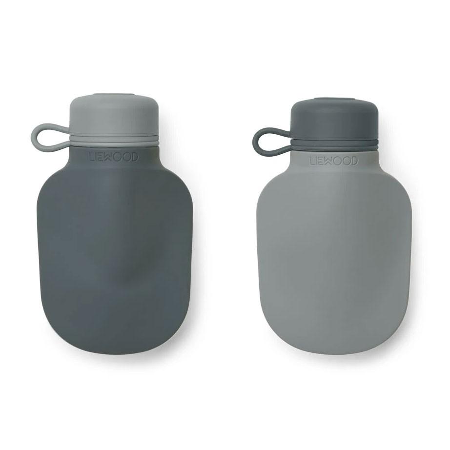 Liewood - 2 Quetschie Smoothie Flaschen Silvia Blue Mix