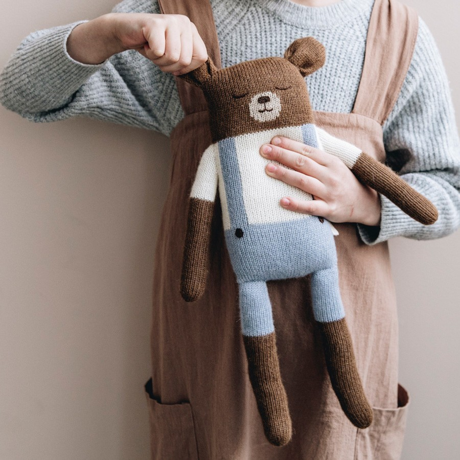 Main Sauvage - Großer Teddy Blau