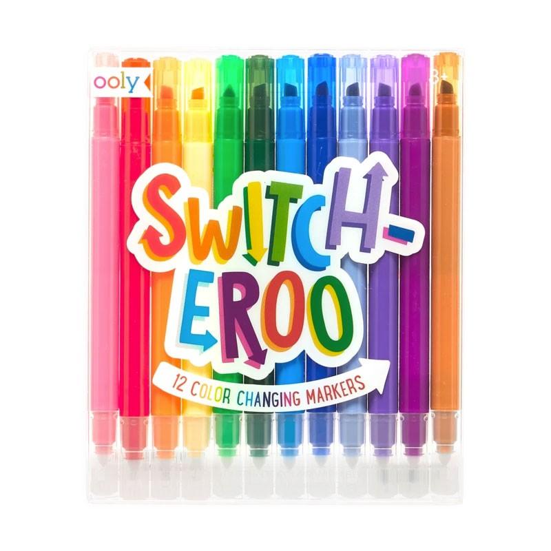 OOLY - 12 Marker mit Effekt Switch-EROO Regenbogen