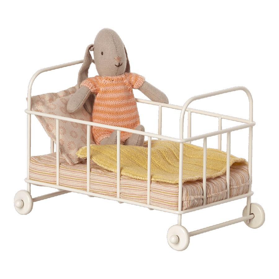 Maileg - Kleiner Stubenwagen Baby Maus Rosa