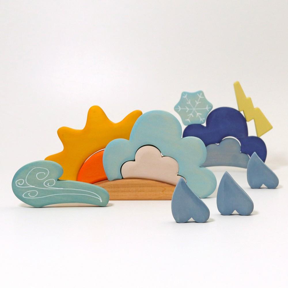Grimm's Spielzeug - Bauspiel Wetter