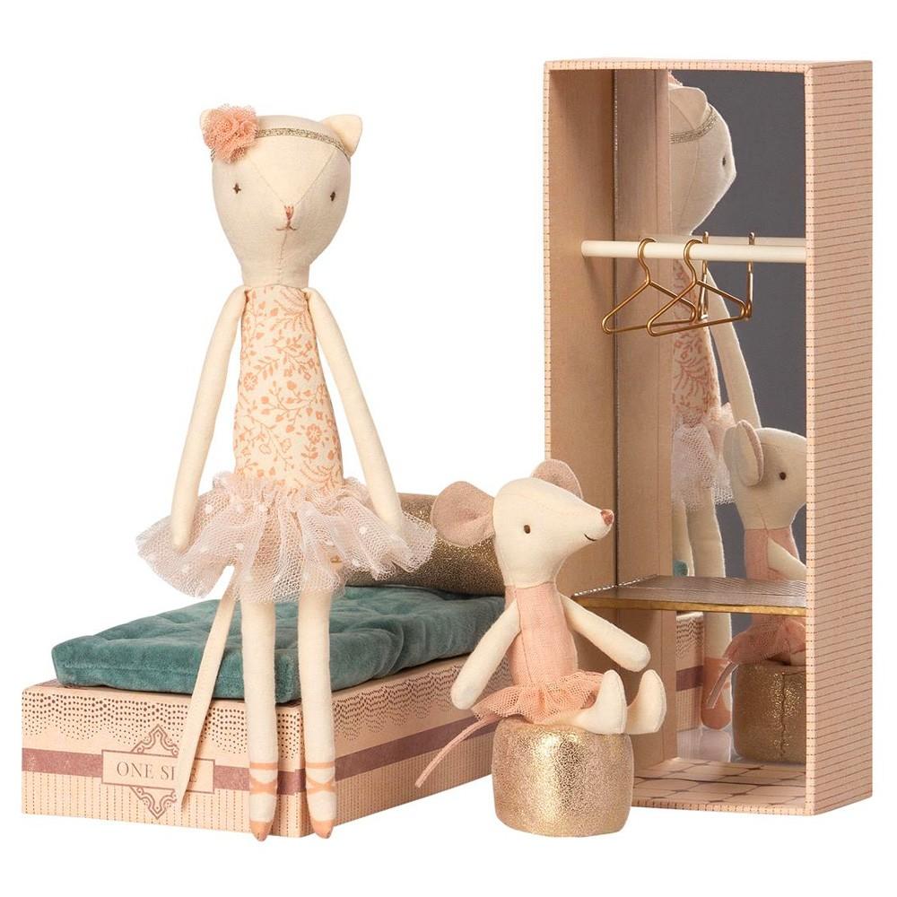 Maileg - Ballett Maus und Katze im Schuhkarton