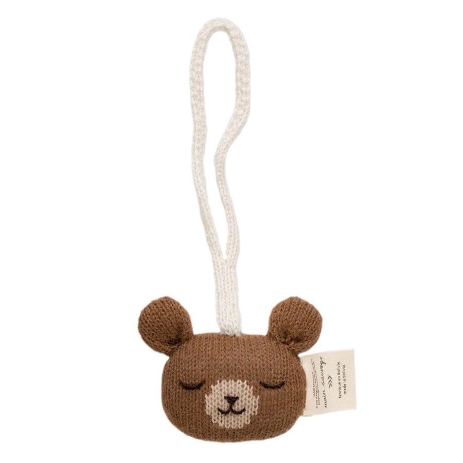 Main Sauvage - Babyrassel Anhänger Teddy