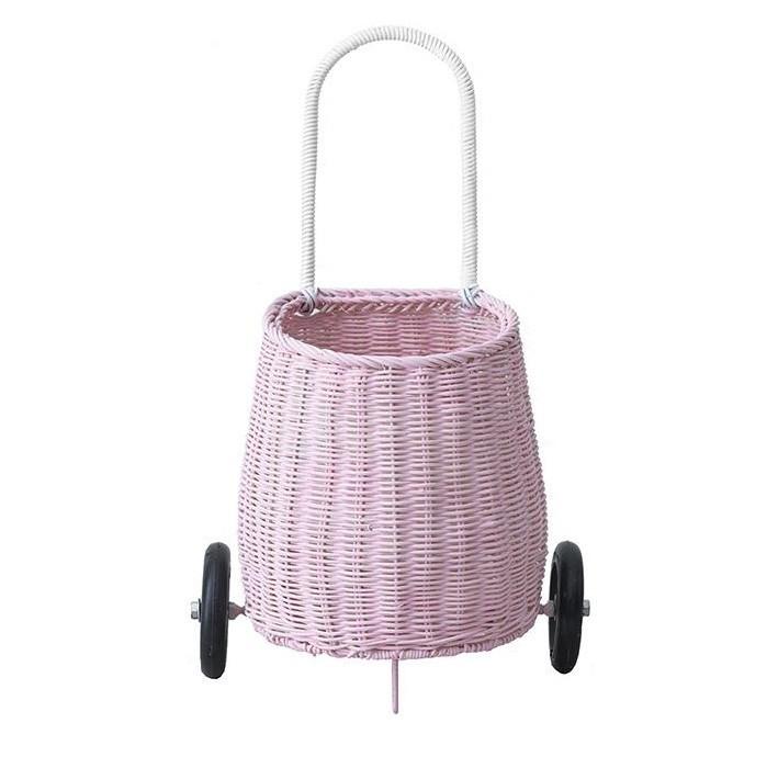 Olli Ella - Luggy Korb auf Rädern Pink