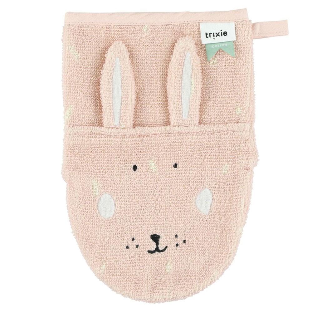Trixie Baby - Waschlappen Mrs Rabbit Rosa