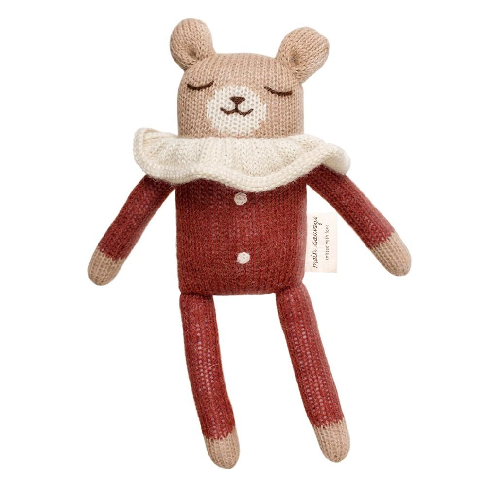Main Sauvage - Teddy im Schlafanzug Rot