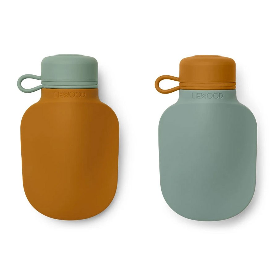 Liewood - 2 Quetschie Smoothie Flaschen Silvia Mustard Peppermint Mix