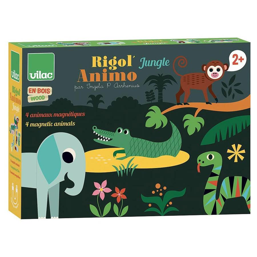 Vilac - Magnetspiel aus Holz Wilde Tiere Dschungel