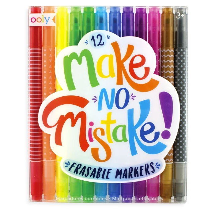 "OOLY - 12 Marker mit Radierer ""Make no Mistake"""
