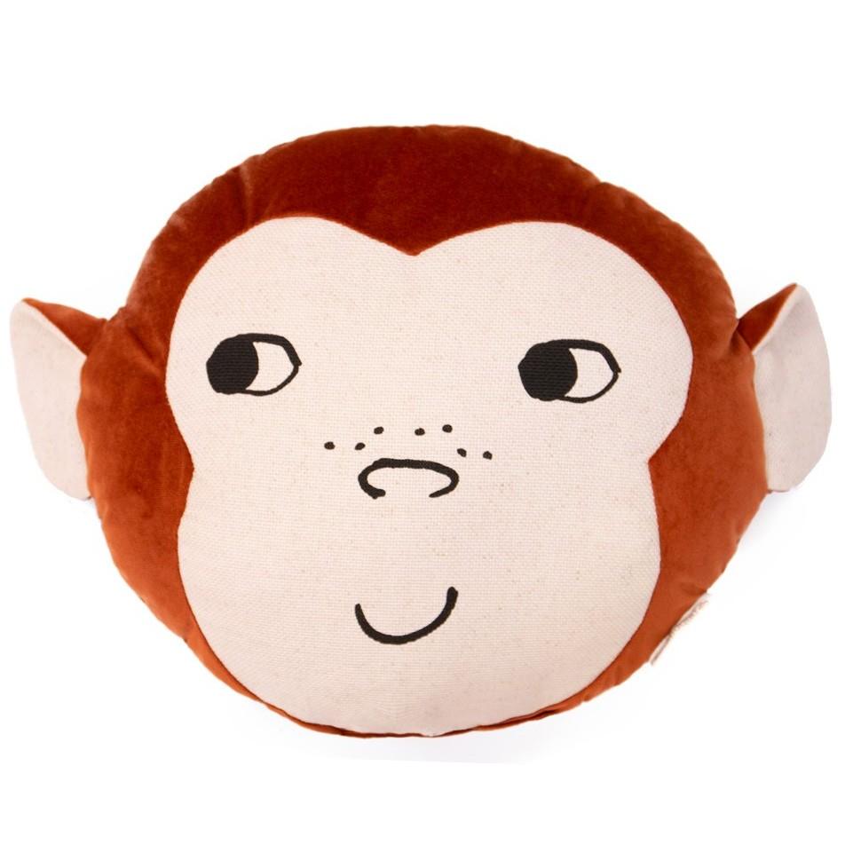 Nobodinoz - Kissen Savanna Velvet Wild Animals Monkey