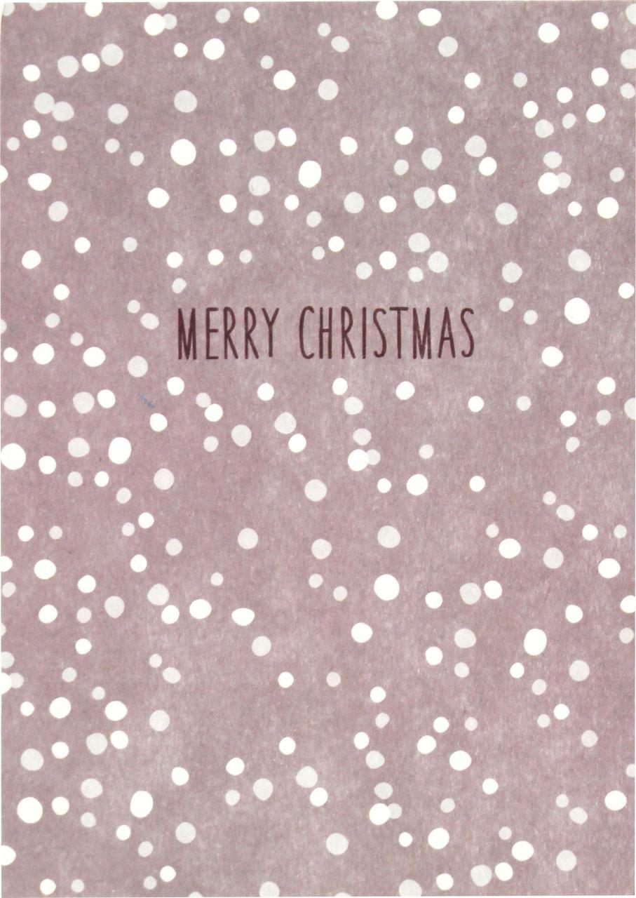 "Ava & Yves - Postkarte ""Merry Christmas"""