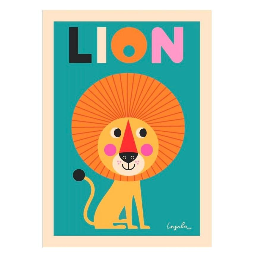 """OMM Design - Poster """"Mutiger Löwe"""""""