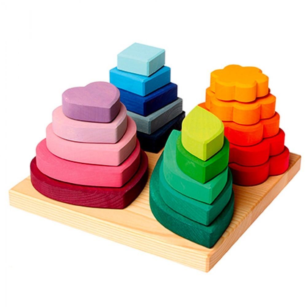 Grimm's Spielzeug - Steckturm Formen