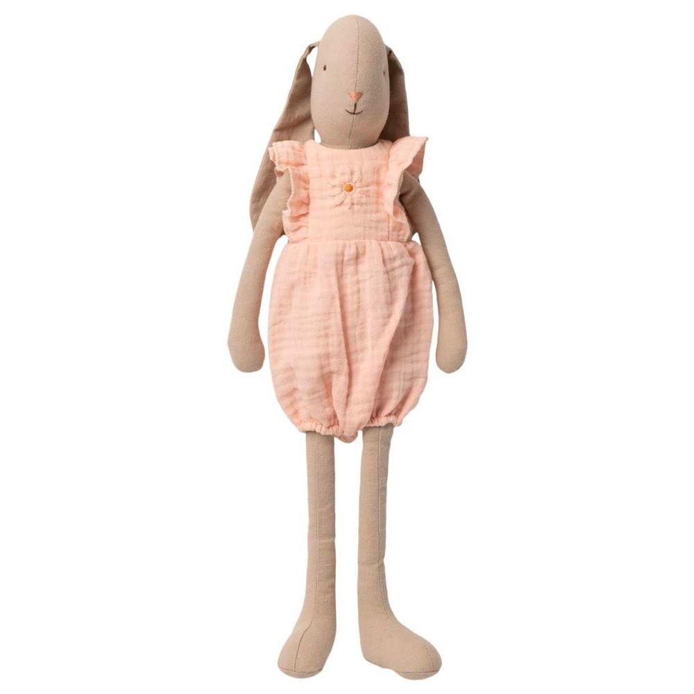 Maileg - Hase mit Schlappohren Jumpsuit Rosa Größe 3