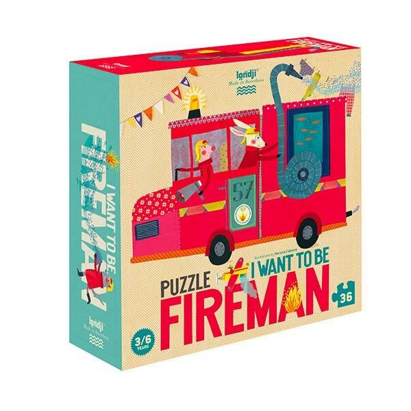 """Londji - Puzzle """"Ich werde mal Feuerwehrmann"""""""