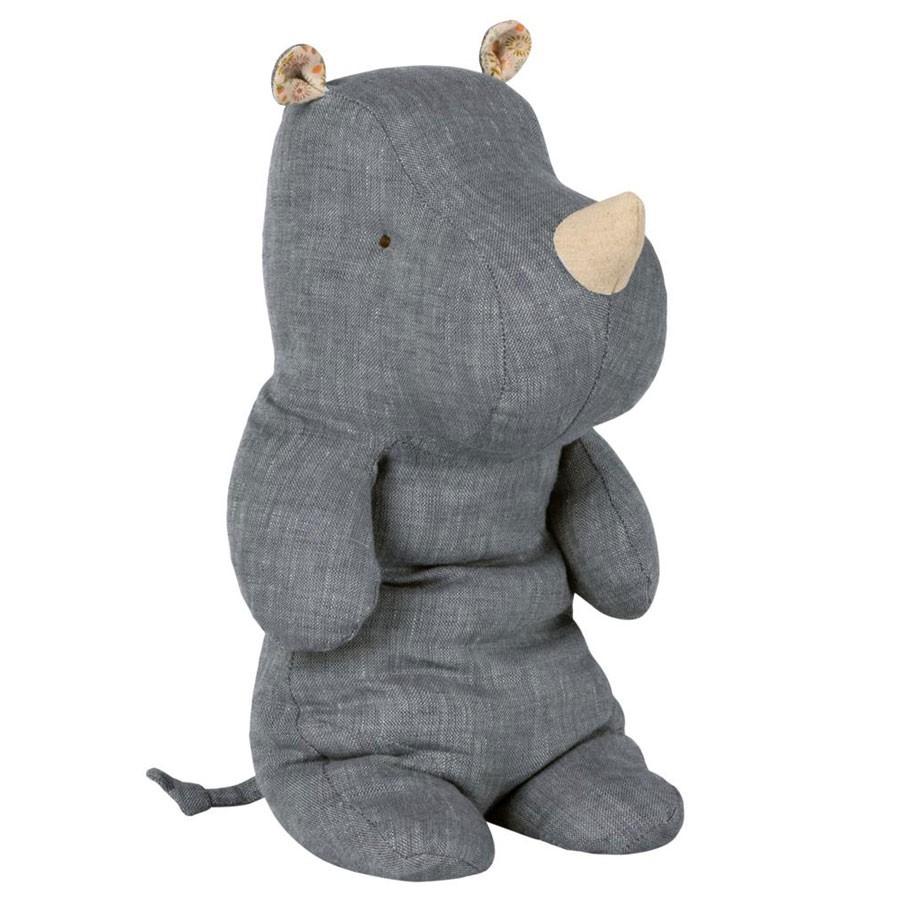 Maileg - Nashorn mit Blümchenohren Blau Medium