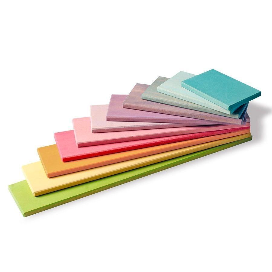 Grimm's Spielzeug - Bauplatten Pastell