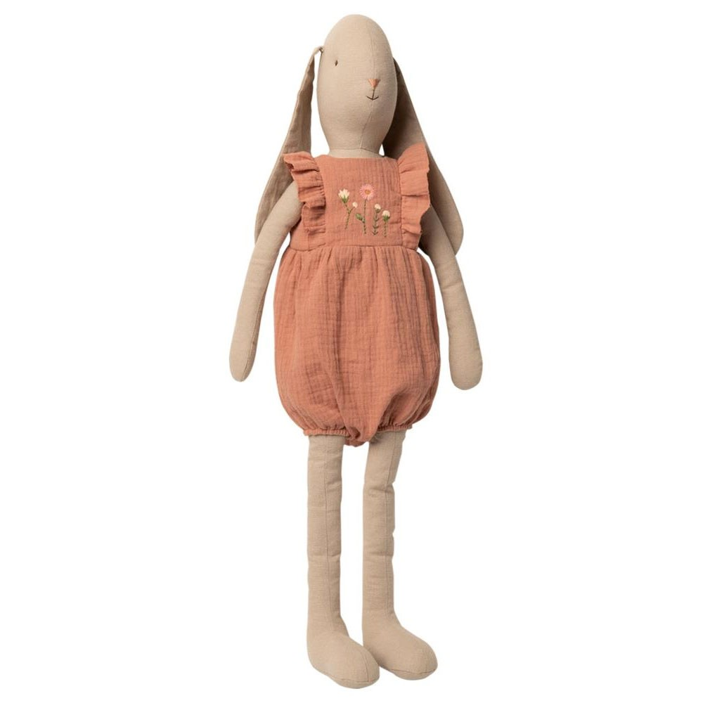 Maileg - XL Hase im Jumpsuit Rosa Größe 5