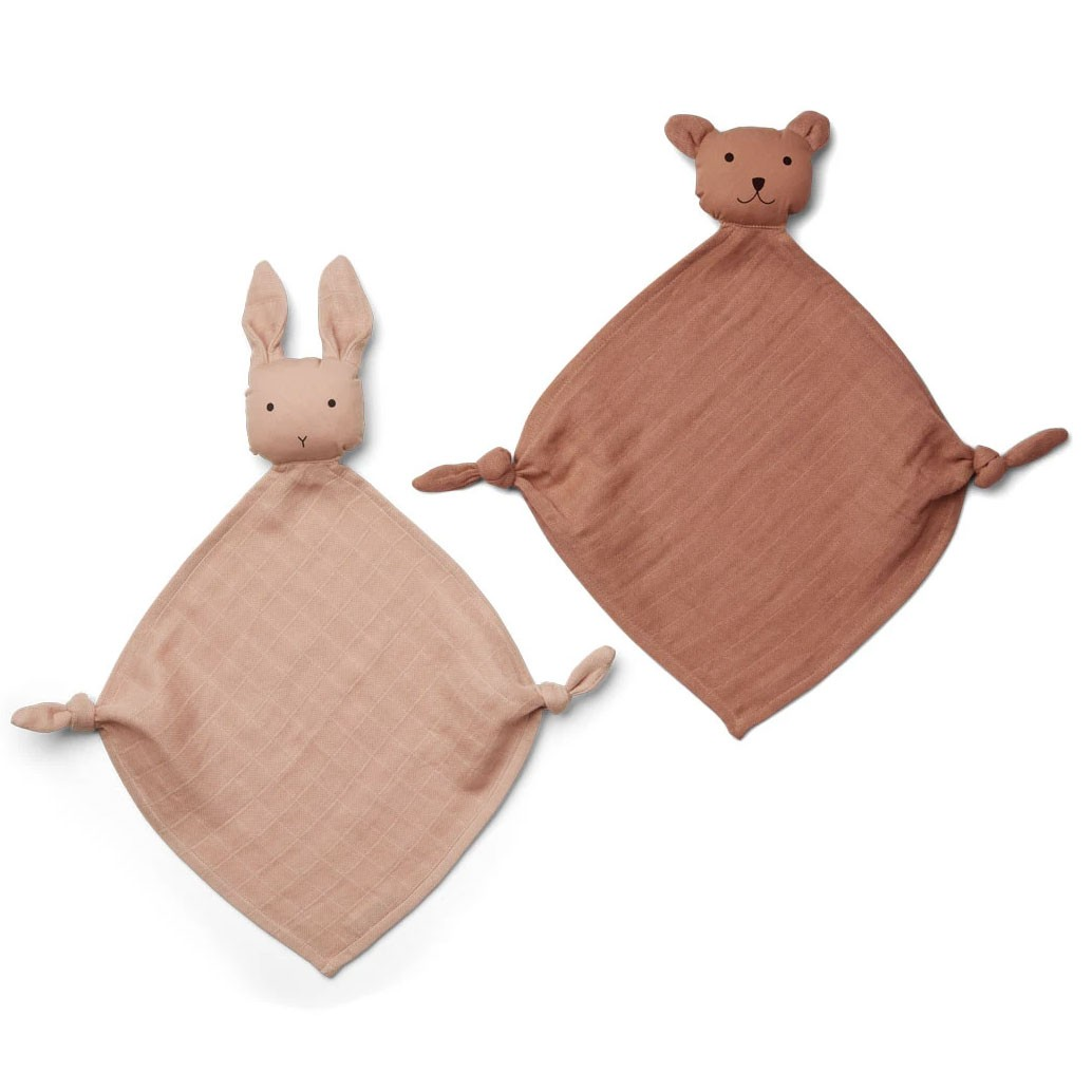 Liewood - Yoko Mini Cuddle Cloth 2 Pack - Tuscany rose/sandy mix