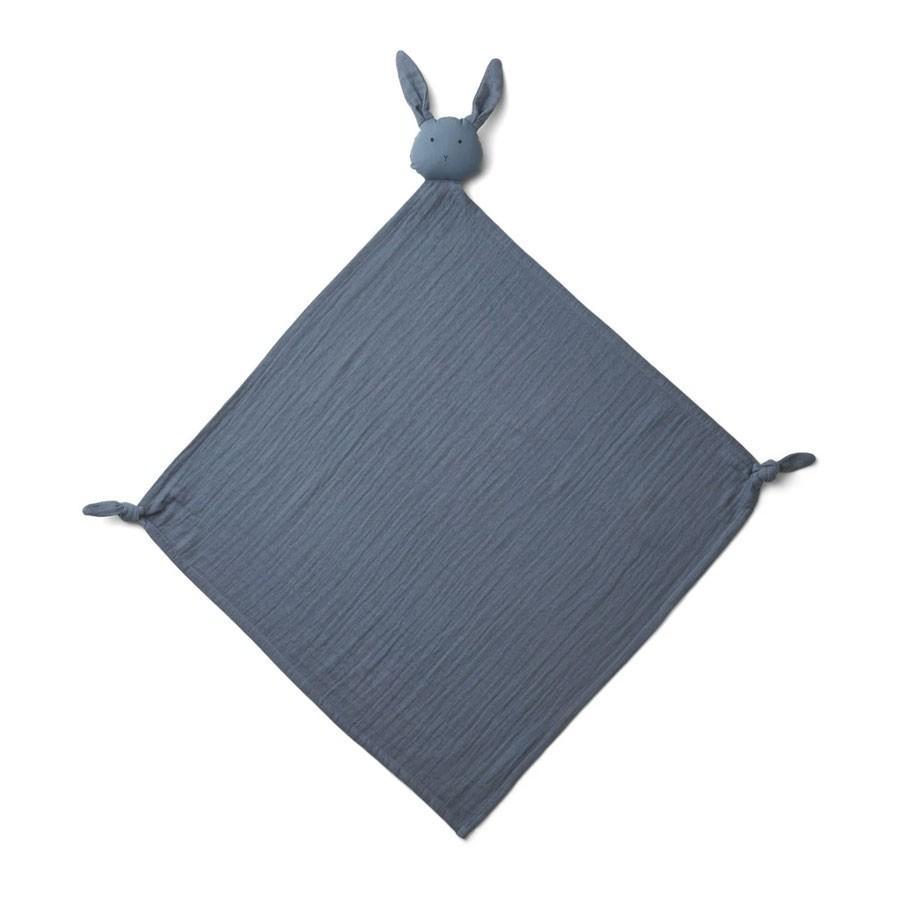 Liewood - Musselin Schmusetuch Robbie Rabbit Blue Wave