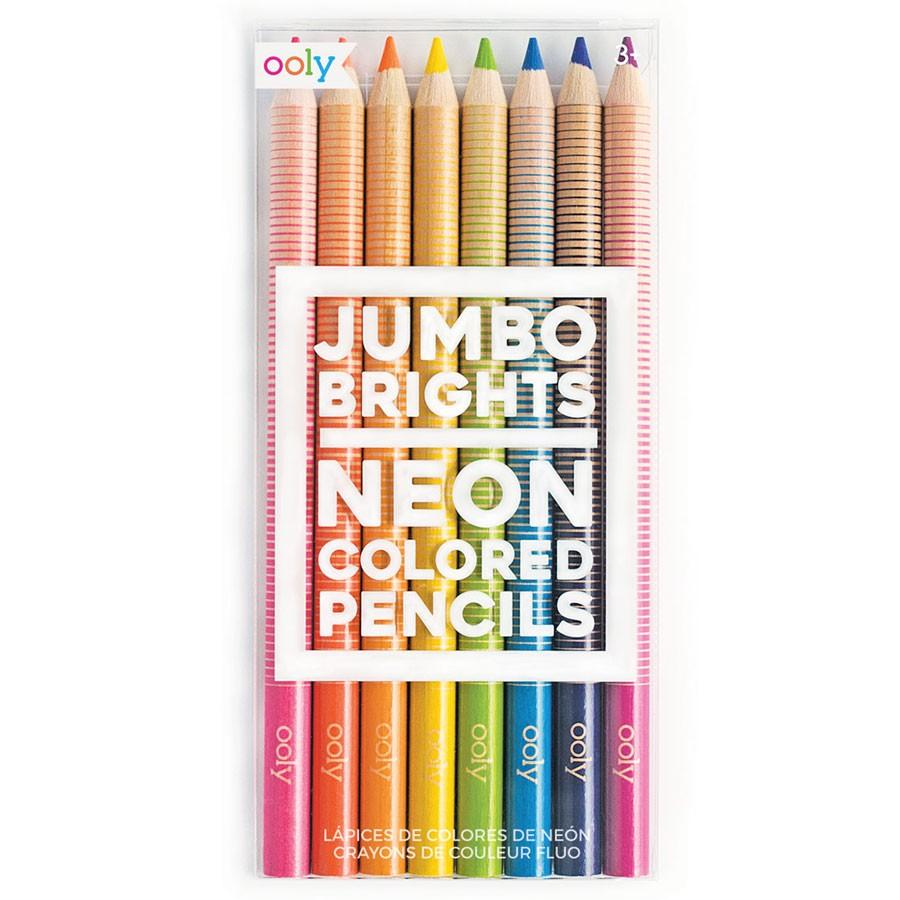 OOLY - 8 Neon Buntstifte Jumbo Brights