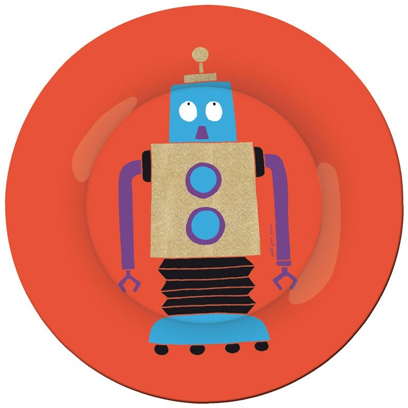 "Petit Jour Paris - Teller ""Roboter"" Rot"