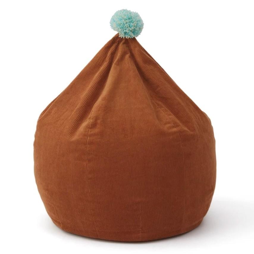 OYOY - Sitzsack aus Kord mit Bommel